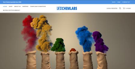 FX CHEM LABS Webshop Screenshot